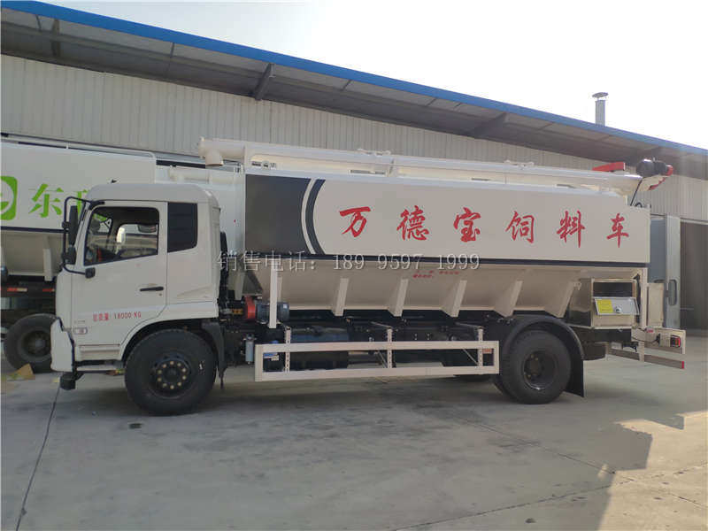 西门子电动12吨东风天锦VR散装饲料运输车厂家价格配置图片