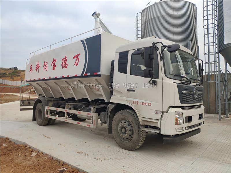 电动24方单桥东风天锦VR散装饲料运输车厂家价格配置图片