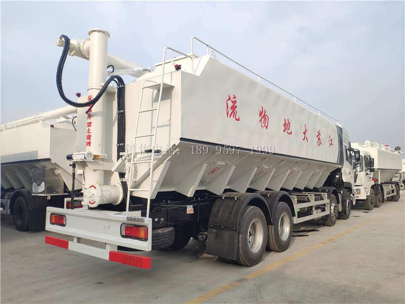 液压22吨东风天龙VL前四后八散装饲料运输车厂家价格配置图片