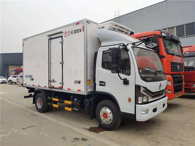 国六小型4米2蓝牌东风凯普特冷藏车厂家报价配置图片
