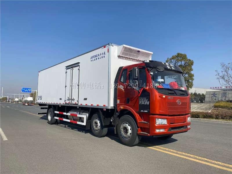 国六9米6解放J6L冷藏车厂家-解放天然气冷藏车配置-小三轴(天然气)冷藏车价格