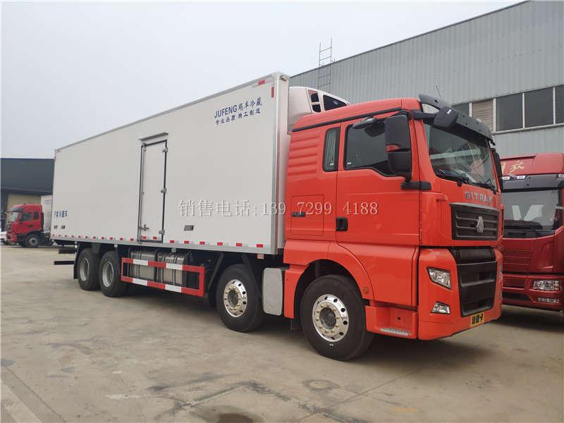 国六9米6冷藏车厂家-9米6天然气冷藏车配置-9米6冷藏车价格