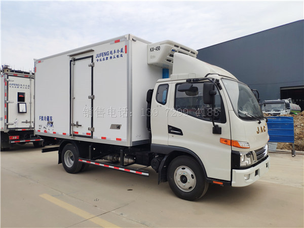 4米2冷藏车厂家价格-蓝牌4米2冷藏车能拉几吨货?