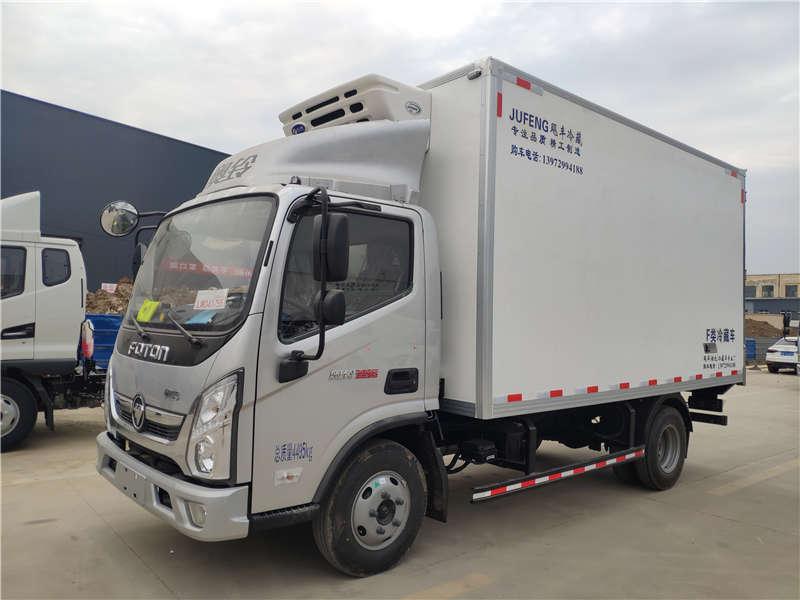 2021年蓝牌4米2冷藏货运车总重调至7.5吨