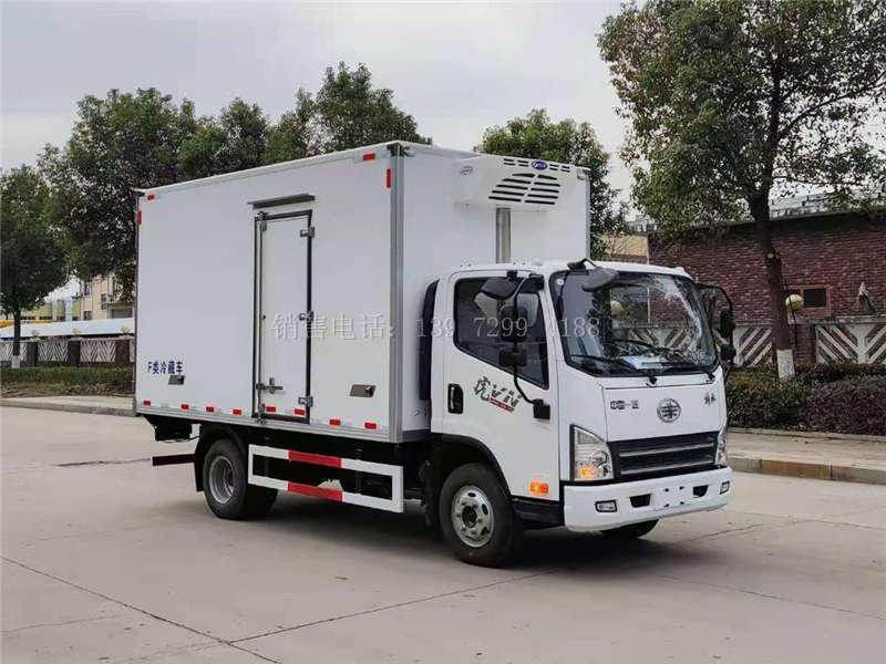2021年新品国六蓝牌解放4.2米冷藏车不超重