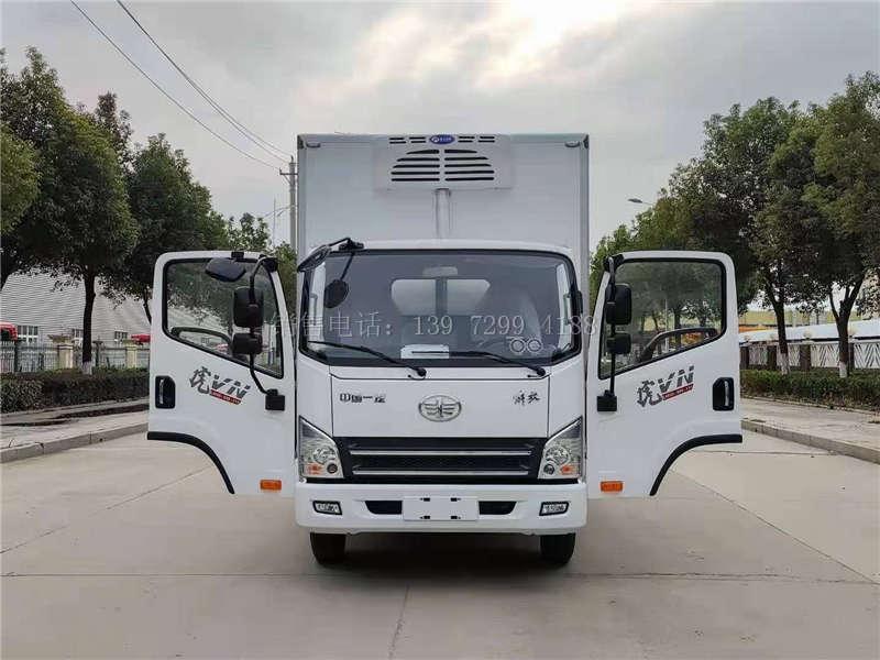 国六蓝牌解放4.2米冷藏车厂家