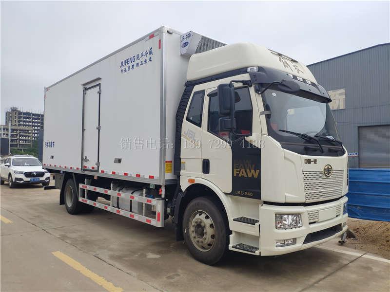 国六解放J6L六米八冷藏车价格