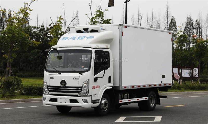 国六陕汽德龙轻卡宽体4米2冷藏车