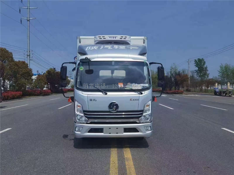 国六陕汽德龙轻卡宽体4米2自动挡冷藏车