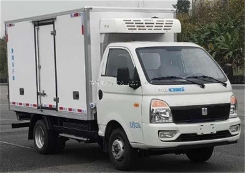 吉利纯电动绿牌3米5冷藏车