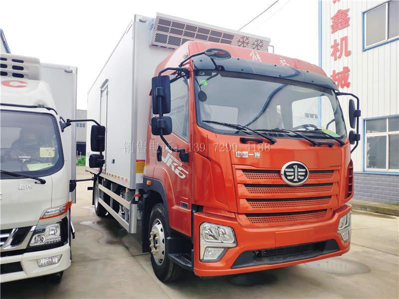 国六解放JK6肉钩6米8冷藏车价格图片