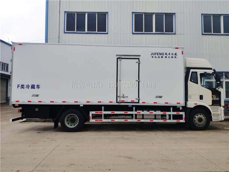 国六解放J6L肉钩6米8冷藏车价格图片