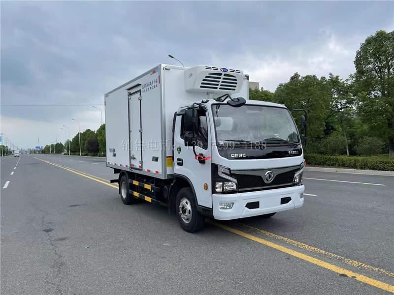 国六东风福瑞卡混动新能源4米2冷藏车价格图片