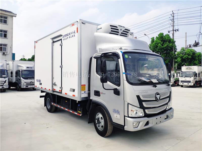 国六福田欧马可4米2冷藏车做宽体保温箱,配进口冷王580冷机多少钱?