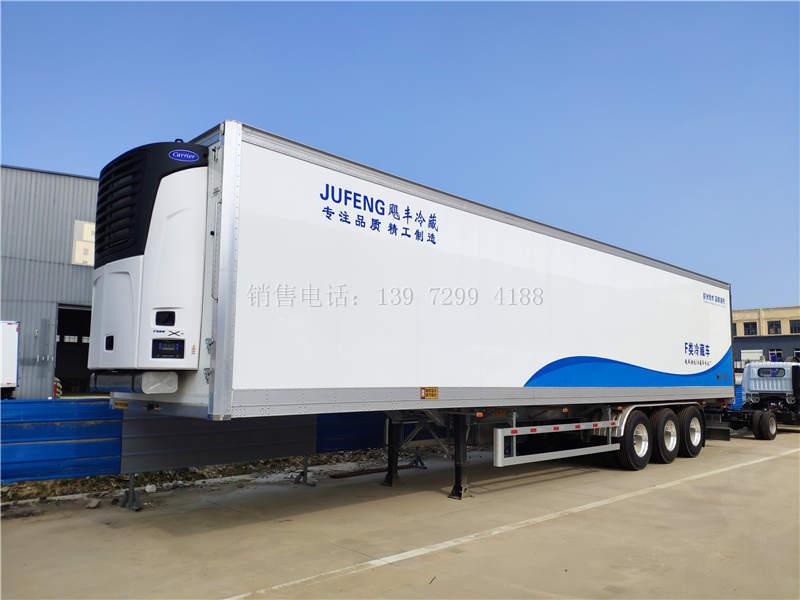 轻量化13米6一体式半挂冷藏车详述