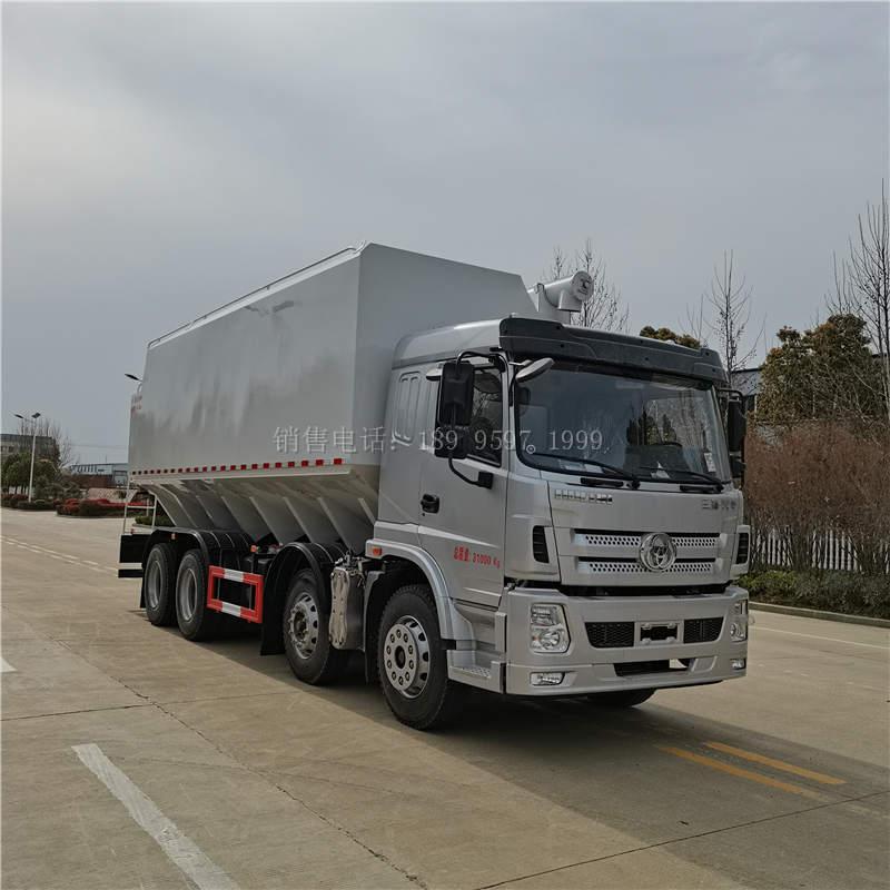 国六三环昊龙短四轴散装饲料运输车价格配置
