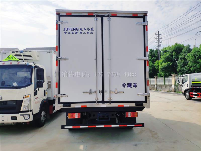 国六江淮骏铃v5蓝牌4米2冷藏车报价