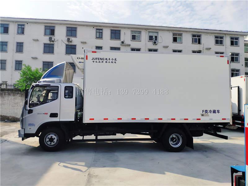 国六福田奥铃CTS排半5米1肉钩冷藏车报价配置