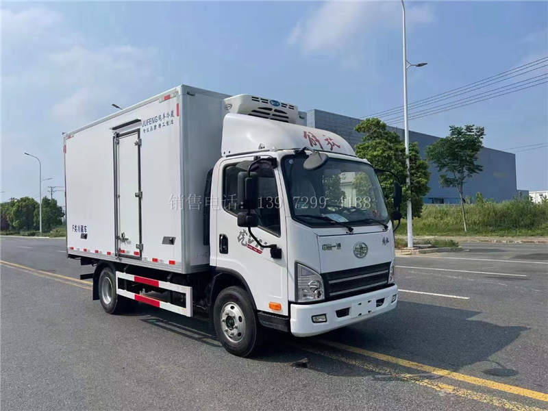 国六4米2解放虎VN150马力冷藏车价格