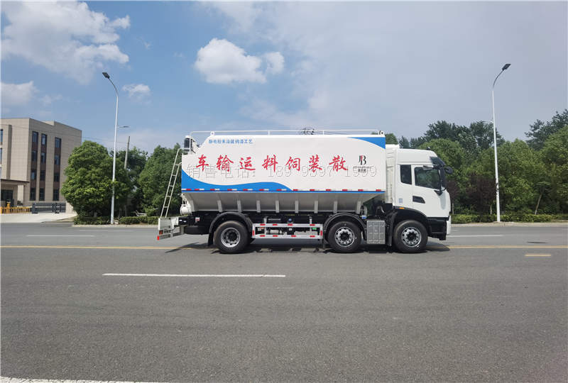 15吨东风天锦KR短三轴散装饲料运输车价格