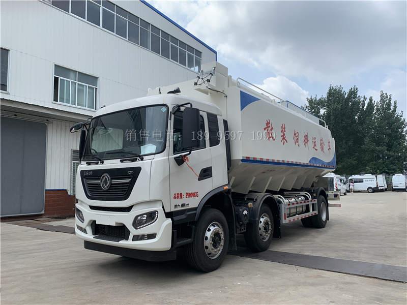15吨东风天锦KR小三轴散装饲料运输车价格