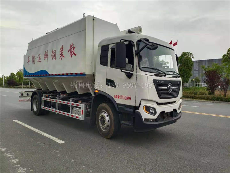 12吨东风天锦KR单桥散装饲料运输车价格