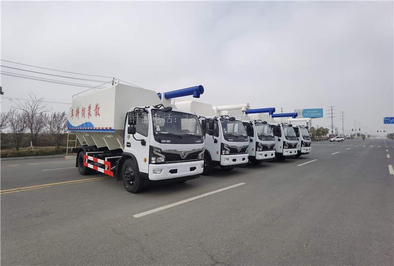 7吨东风福瑞卡云内170马力散装饲料运输车价格